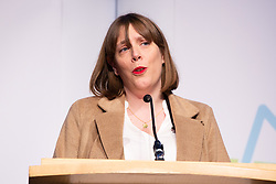 © Licensed to London News Pictures. 13/12/2019. Birmingham, West Midlands, UK. Birmingham Election Results. Pictured, Jess Phillips who held her Yardley seat. Photo credit: Dave Warren / LNP