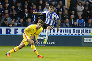 Sheffield Wednesday midfielder Ross Wallace (33)  during the Sky Bet Championship match between Sheffield Wednesday and Milton Keynes Dons at Hillsborough, Sheffield, England on 19 April 2016. Photo by Simon Davies.
