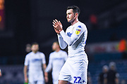 Jack Harrison of Leeds United (22) claps the home fans after the EFL Sky Bet Championship match between Leeds United and Bristol City at Elland Road, Leeds, England on 24 November 2018.