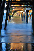 Under the San Clemente Pier California