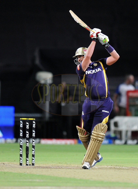 Jacques Kallis of Kolkatta Knight Riders bats during the first Qualifying match of the Indian Premier League ( IPL) 2012  between The Delhi Daredevils and The Kolkata Knight Riders held at the Subrata Roy Sahara Stadium, Pune on the 22nd May 2012..Photo by Pal Pillai/IPL/SPORTZPICS