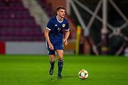 Barry Maguire (#4) of Scotland U21 during the U21 UEFA EUROPEAN CHAMPIONSHIPS match between U21 Scotland and U21 Greece at Tynecastle Park, Edinburgh, Scotland on 15 November 2019.