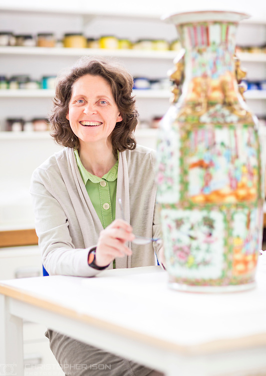 West Dean College Ceramics tutor Lorna Calcutt. <br />