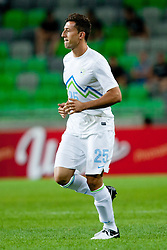 Dominic Maroh #25 of Slovenia first appearance for team Slovenia during friendly football match between national teams of Slovenia and Romania, on August 15, 2012 in Ljubljana, Slovenia.  (Photo by Matic Klansek Velej / Sportida.com)