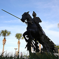 ORLANDO, FL - OCTOBER 09: A view of the UCF Knight statue at Bright House Networks Stadium on October 9, 2014 in Orlando, Florida. (Photo by Alex Menendez/Getty Images) *** Local Caption ***