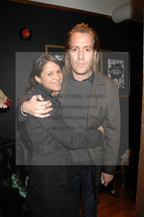 Actor RHYS IFANS and LISA MOORISH at a tea party to launch Pearl Lowe's Spring 2007 fashion collection held at Libery, Great Marlborough Street, London on 20th March 2007.<br />NON EXCLUSIVE - WORLD RIGHTS
