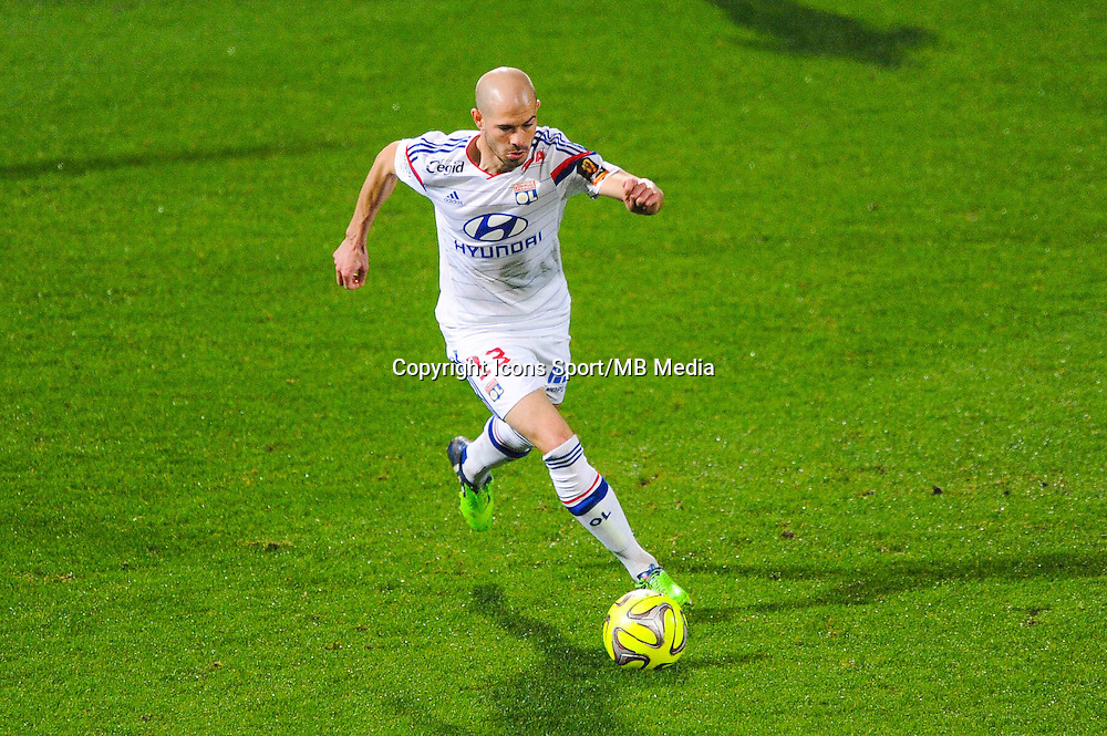 Christophe JALLET  - 04.12.2014 - Lyon / Reims - 16eme journee de Ligue 1  <br /> Photo : Jean Paul Thomas / Icon Sport