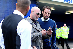 England Caretaker Manager Gareth Southgate poses for pictures with fans at The King Power Stadium ahead of the Premier League fixture between Leicester City and Southampton - Mandatory by-line: Robbie Stephenson/JMP - 02/10/2016 - FOOTBALL - King Power Stadium - Leicester, England - Leicester City v Southampton - Premier League