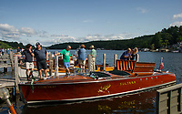 Antique Boat Show in Alton Bay, NH.  Karen Bobotas for the Laconia Daily Sun