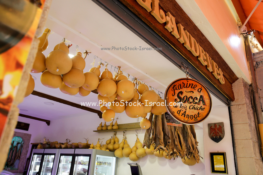 Delicatessen shop selling local meats and cheeses. Nice, France