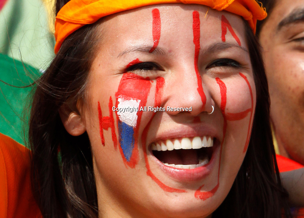 03.03.2011 Cricket World Cup from the Punjab Cricket Association Stadium, Mohali in Chandigarh. West indies v Netherlands. A Dutch supporter during the match of the ICC Cricket World Cup between Netherlands and West Indies