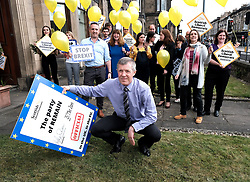 "Scottish Liberal Democrats celebrate English local election results with ""champagne moment"" and confetti cannons, Friday 3rd May 2019<br /> <br /> Scottish Liberal Democrat leader Willie Rennie and European election candidates celebrate the big gains made by Liberal Democrat colleagues overnight in the English local elections and send a message that in every corner of the UK, Liberal Democrats are the party of Remain,  leading the way in fighting to make the chaos of Brexit stop.<br /> <br /> Pictured: Willie Rennie<br /> <br /> Alex Todd 