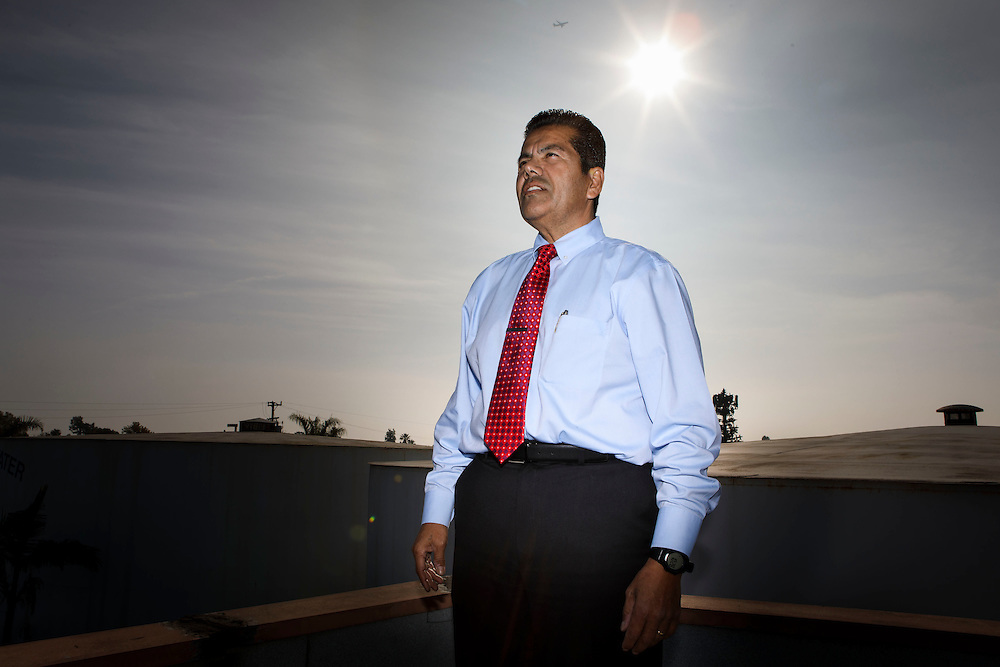 George Perez, president and chief executive officer of Tract 180 Water Tract Co. and former city manager stands for a portrait on Wednesday, December 14, 2016 in Cudahy, Calif. © 2016 Patrick T. Fallon