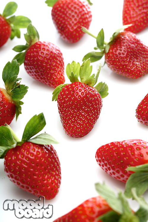 Strawbwrry on white background - close-up