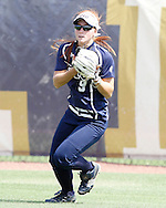 Beth Peller makes the catch in Center field during game against Troy.