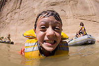 Whitewater rafting through the Gates of Lodore section of the Green River which flows through Dinosaur National Monument in northeastern Utah.
