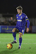 Jake Reeves of AFC Wimbledon, during the Sky Bet League 2 match between AFC Wimbledon and Dagenham and Redbridge at the Cherry Red Records Stadium, Kingston, England on 24 November 2015. Photo by Stuart Butcher.
