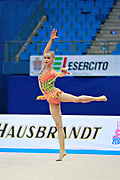 Jovenin Axelle during the qualification at the Pesaro World Cup 2014.<br /> She is a French gymnast born in Lille in 2000. Her dream is to participate in the 2020 Olympic Games in Tokyo.