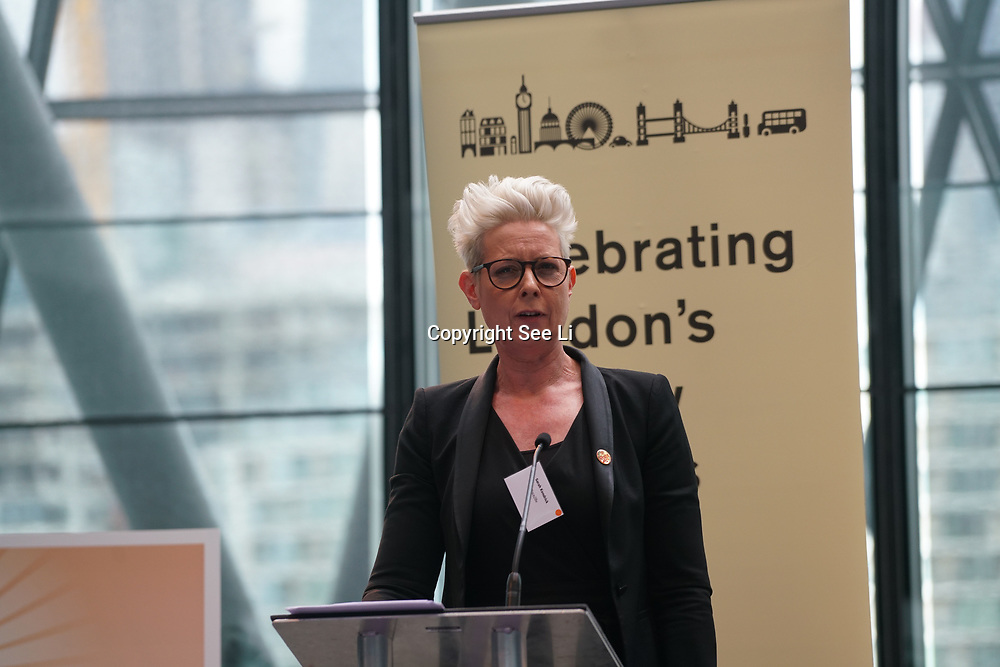 City Hall, London, Uk, 29th June 2017. Speaker Sarah Kendrick from National children mental health charity, Place2Be at the Health and education experts celebrate London's healthiest schools at City Hall awards.