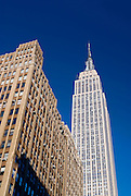 New York City. The Empire State Building on 34th Street and Fifth Avenue.