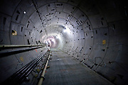 A nearly finished subway tunnel being built as part of the extension of the 7 line of the New York subway system. The tunnel and the 34th street station is well on its way to be finished. A proposed extension to New Jersey is in the talks.