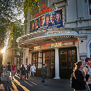 "A theatre showing ""The Best Man"" at the Strand in London, United Kingdom."