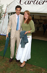 MR EDWARD & LADY TAMARA VAN CUTSEM at the 2005 Cartier International Polo between England & Australia held at Guards Polo Club, Smith's Lawn, Windsor Great Park, Berkshire on 24th July 2005.<br /><br />NON EXCLUSIVE - WORLD RIGHTS