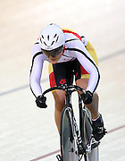 Southland's Natasha Hansen at the BikeNZ Elite & U19 Track National Championships, Avantidrome, Home of Cycling, Cambridge, New Zealand, Sunday, March 16, 2014. Credit: Dianne Manson