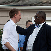 Fundraiser for Jason Kander's campaign for Missouri Secretary of State - taken two days after winning the Democratic primary, and leading into a race against a Republican opponent culminating in November 2012.