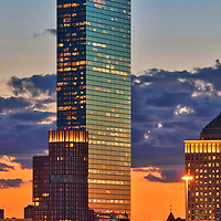 Boston skyline photography showing the Boston Hancock Tower on a beautiful sunset night. This Boston blue hour skyline photography images are available as museum quality photography prints, canvas prints, acrylic prints or metal prints. Fine art prints may be framed and matted to the individual liking and decorating needs:<br />  <br /> https://juergen-roth.pixels.com/featured/boston-sunset-and-plywood-palace-juergen-roth.html<br /> <br /> All photographs are available for digital and print image licensing at www.RothGalleries.com. Please contact me direct with any questions or request.<br /> <br /> Good light and happy photo making!<br /> <br /> My best,<br /> <br /> Juergen<br /> Prints: http://www.rothgalleries.com<br /> Photo Blog: http://whereintheworldisjuergen.blogspot.com<br /> Twitter: @NatureFineArt<br /> Instagram: https://www.instagram.com/rothgalleries<br /> Facebook: https://www.facebook.com/naturefineart