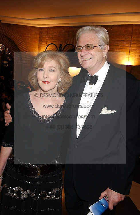 MR PETER OWEN and his wife actress PATRICIA HODGE at the 2005 Whitbread Book Awards 2005 held at The Brewery, Chiswell Street, London EC1 on 24th January 2006. The winner of the 2005 Book of the Year was Hilary Spurling for her biography 'Matisse the Master'.<br />
