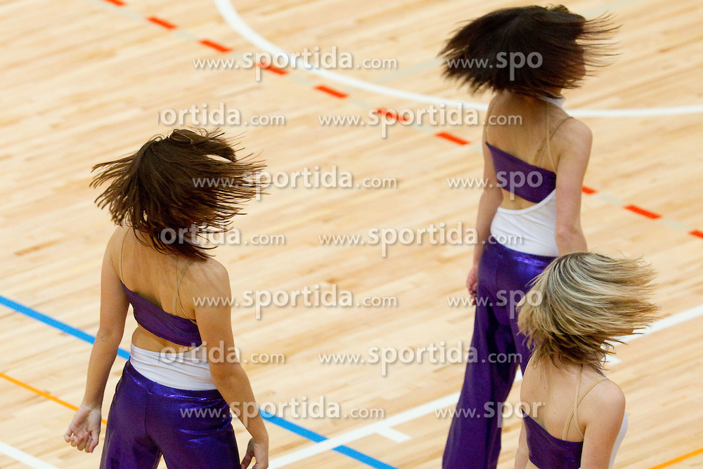 Cheerleaders during volleyball match between ACH Volley and UKO Kropa at Finals of Slovenian Cup 2010, on December 21, 2010 in Dvorana OS, Nova Gorica, Slovenia. ACH Volley defeated Kropa 3-0 and become Slovenian Cup Champion. (Photo By Vid Ponikvar / Sportida.com)