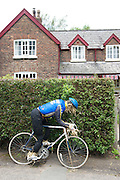 Scarecrow cyclist, Rostherne, Knutsford, Cheshire  6.6.12.