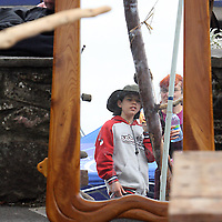 Liam Cox at the 2007 Scariff Harbour Festival over the weekend.<br />