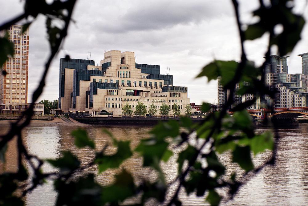 The MI6 building.