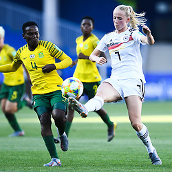 Lea Schueller of Germany during the Women's World Cup match between Germany and South Africa at Stade de la Mosson on June 17, 2019 in Montpellier, France. (Photo by Alexandre Dimou/Icon Sport)