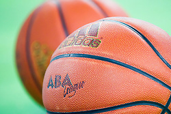 Offical ball during basketball match between KK Union Olimpija Ljubljana and KK Tajfun in 22th Round of ABA League 2015/16, on January 30, 2016 in Arena Stozice, Ljubljana, Slovenia. Photo by Urban Urbanc / Sportida