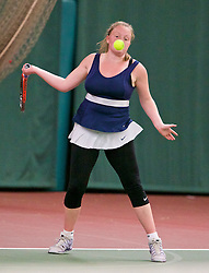 LIVERPOOL, ENGLAND - Wednesday, June 17, 2015: Lauren Dowling during qualifying for the Liverpool Hope University International Tennis Tournament at Watertree Tennis Centre. (Pic by David Rawcliffe/Propaganda)