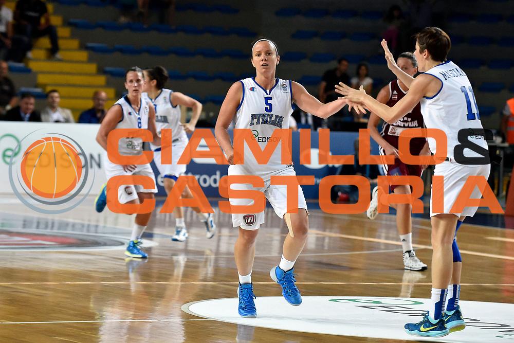 DESCRIZIONE : Ragusa Nazionale Italia Femminile Qualificazione Europeo Femminile Italia Lettonia Italy Latvia<br /> GIOCATORE : Martina Fassina<br /> CATEGORIA : Esultanza<br /> SQUADRA : Italia Nazionale Femminile Italy<br /> EVENTO : Qualificazione Europeo Femminile<br /> GARA : Italia Lettonia Italy Latvia<br /> DATA : 25/06/2014 <br /> SPORT : Pallacanestro<br /> AUTORE : Agenzia Ciamillo-Castoria/A.Falcone<br /> Galleria : FIP Nazionali 2014<br /> Fotonotizia : Ragusa Nazionale Italia Femminile Qualificazione Europeo Femminile Italia Lettonia Italy Latvia