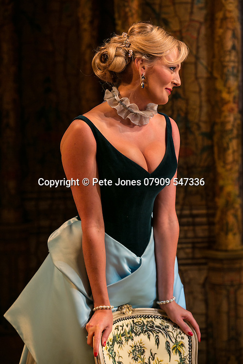 The Rehearsal by Jean Anouilh;<br /> Directed by Jeremy Sams;<br /> Katherine Kingsley as Hortensia;<br /> Minerva Theatre, Chichester;<br /> 13 May 2015