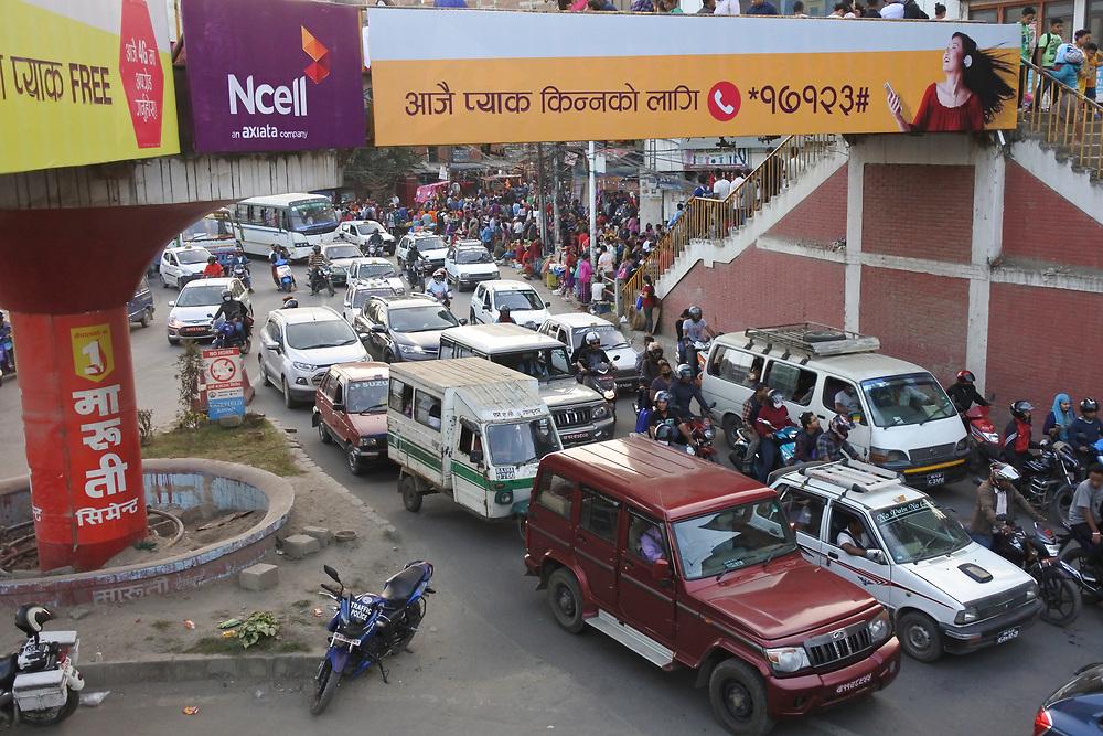 Rush hour Traffic in Kathmandu