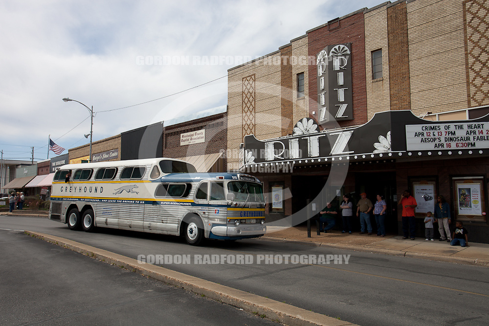 BLYTHEVILLE, ARKANSAS GREYHOUND DEPOT.  GHOSTS OF HIGHWAY 61 BUS RALLY