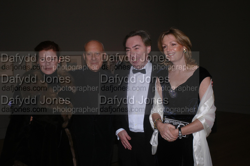 Lord and Lady Foster and Lord  and Lady Andrew Lloyd Webber. Turner Whistler Monet, exhibtion opening dinner, Tate Britain. 7 February 2005, ONE TIME USE ONLY - DO NOT ARCHIVE  © Copyright Photograph by Dafydd Jones 66 Stockwell Park Rd. London SW9 0DA Tel 020 7733 0108 www.dafjones.com