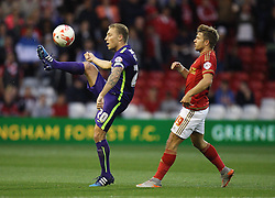 Chris Solly of Charlton Athletic (L) and Jamie Ward of Nottingham Forest in action - Mandatory byline: Jack Phillips / JMP - 07966386802 - 18/8/2015 - FOOTBALL - The City Ground - Nottingham, Nottinghamshire - Nottingham Forest v Charlton Athletic - Sky Bet Championship