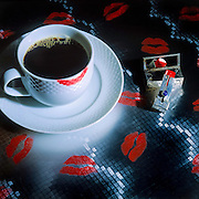 Lipstick and morning coffee
