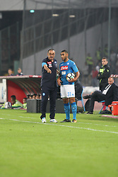October 21, 2017 - Napoli, Campania/Napoli, Italy - Action during soccer match between SSC Napoli  and  F.C.Inter    at San Paolo  Stadium in Napoli .final result Napoli vs. F.C.Inter 0-0.In picture in order L to R: Maurizio Sarri,trainer ( SSC NAPOLI) and Faouzi Ghoulam  (Credit Image: © Salvatore Esposito/Pacific Press via ZUMA Wire)