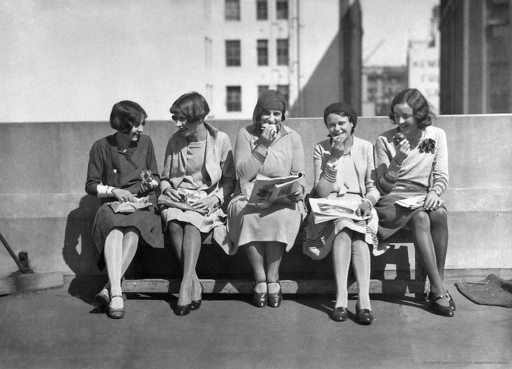 "Lunch On The Roof, ""A Day In The Life Of a Business Girl"" Series, Sydney, Ausralia, 1930"