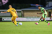 Forest Green Rovers Keanu Marsh-Brown (7) passes the ball forward during the Vanarama National League match between Forest Green Rovers and Sutton United at the New Lawn, Forest Green, United Kingdom on 9 August 2016. Photo by Shane Healey.