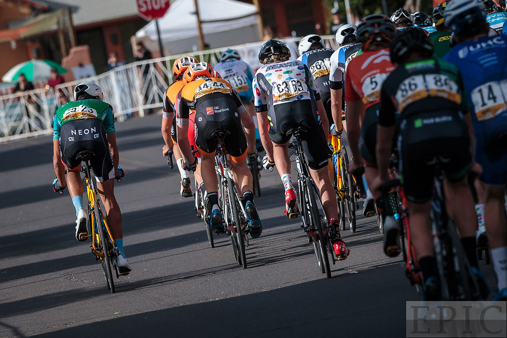 SILVERY CITY, NM - APRIL 21: Christopher Blevins (Hagens Berman Axeon) moves to the front with 2 laps to go on stage 4 of the Tour of The Gila on April 21, 2018 in Silver City, New Mexico. (Photo by Jonathan Devich/Epicimages.us)