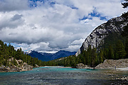 Bow River and Cascade Mountains, Banf, Banf National Park, Alberta, Canada